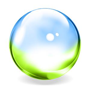 Blue Green Transparent Sphere