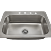 PT0301US Single Bowl Topmount Stainless Steel Sink
