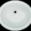 PUGMFR Undermount Glass Bathroom Sink