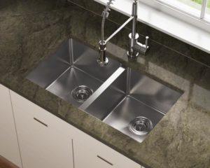fourteen g dual basin stainless steel