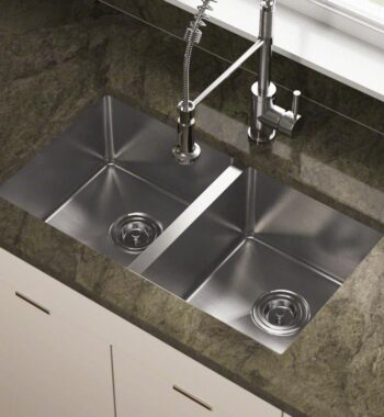 fourteen g dual basin stainless steel