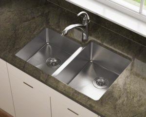 14 gauge undermount sink with 2 basins