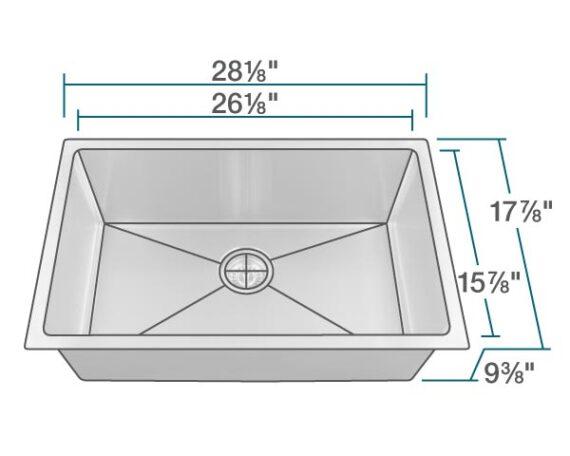 14 Gauge Single Bowl 3 4 Quot Radius Stainless Steel Sink