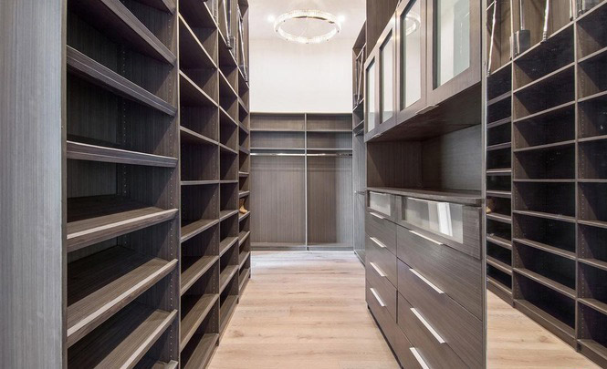 custom closet we designed in los feliz