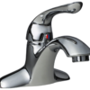 107-C Chrome Single Handle Bathroom Faucet